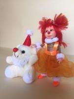 Коллекционная, интерьерная, авторская кукла- Клоунесса.