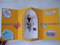 Двойная поздравительная открытка уникального дизайна, 15х15 см, в развороте 15х30 см