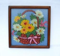 Вышитая бисером картина.  Для вышивки использован чешский бисер. Рамочка деревянная. Антибликовое стекло.