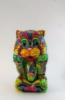 Керамическая статуэтка.Ручная авторская роспись и декор с использованием красок по стеклу и керамике, акриловых и витражных красок, глиттер ,лаки ,стразы,рапидограф,эмаль.
