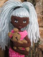 Кукла каркасная, интерьерная с игрушкой, ручная робота