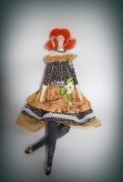 Текстильная кукла в стиле Тильда, зовут Морковка за яркий рыжий цвет волос.