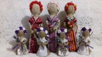 Рост 26 см.=от 105 гривен; рост 22 см.= от 85 гривен; рост 10,15 см.= от 65 гривен  наряды разнообразные  Для примера   Все обереги выполнены по правилам изготовления куклы-мотанки, с пониманием и любовью к своему делу.