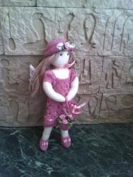 Кукла ручной работы Розовый ангел связана крючком в стиле амигуруми. В наличии и под заказ.Авторская работа.