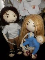 """Авторские куклы """"Семья"""". Из фоамирана, ручной работы. Могут быть выполнены в других цветовых сочетаниях, по вашим фото."""