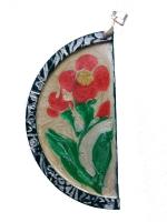 кулон ручной работы из полимерной глины и красок Pebeo