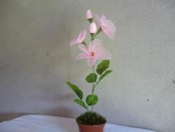 цветок из капрона. Лилия