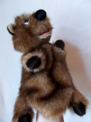Медвежонок,игрушка- перчатка.