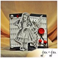 Оригинальная открытка с Алисой  Больше открыток здесь: https://vk.com/otkryitki_juju https://www.facebook.com/jujumagiccards Ju-Ju - открытки, которые приносят счастье!