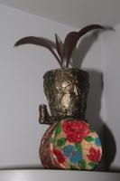 Мініатюрний вазон руної роботи, можна використовувати і для квітів, індивідуальний дизайн,роблю на замовлення