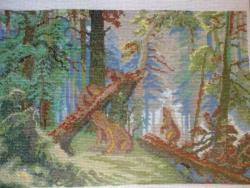 Использовано 36 цветов ниток мулине. Размер 190 Х 124 крестиков