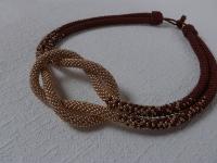 ′Морской узелок′ - украшение из бисера, жгут