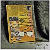 Лаконичная скрап-открытка для парня или мужчины. Подойдет к любому поводу!  Больше мужских открыток здесь https://www.facebook.com/jujumagiccards https://vk.com/otkryitki_juju