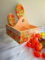 Набор органайзер (короб,подставка) для косметики + щетки