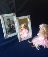 "Набор зеркало+рамка ""Прованс pink"""