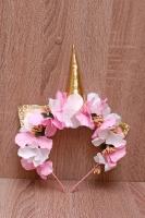 Нежный бело-розовый обруч ободок Единорог Единорожка