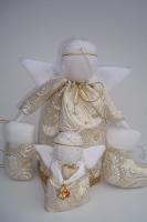 Новогодний подарочный набор. Ангелочки и украшение на ёлку. Цвета под заказ ,на фото
