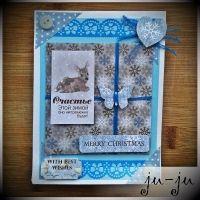 Красивая новогодняя открытка ручной работы Больше открыток здесь: https://vk.com/otkryitki_juju https://www.facebook.com/jujumagiccards Ju-Ju - открытки, которые приносят счастье!