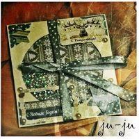 """Очень красивая открытка с прозрачным """"окошком"""", за которым сияют конфетти, бисер и блестки. Прекрасный сувенир в Новогоднюю ночь! Больше открыток тут: https://vk.com/otkryitki_juju https://www.facebook.com/jujumagiccards Открытки Ju-Ju приносят счастье!"""