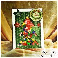 """Красивая открытка в классических новогодних тонах. Внутри окошка открытки - разноцветное конфетти Красивая мужская открытка """"раскладушка"""" с двумя створками. Больше открыток тут: https://vk.com/otkryitki_juju https://www.facebook.com/jujumagiccards Открытки Ju-Ju приносят счастье!"""