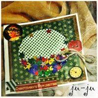 """Красивая открытка на Новый год Красивая мужская открытка """"раскладушка"""" с двумя створками. Больше открыток тут: https://vk.com/otkryitki_juju https://www.facebook.com/jujumagiccards Открытки Ju-Ju приносят счастье!"""
