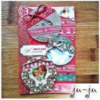 Праздничная открытка к Новому году или Рождеству. Душевный сувенир близким! Больше открыток здесь: https://vk.com/otkryitki_juju https://www.facebook.com/jujumagiccards Ju-Ju - открытки, которые приносят счастье!