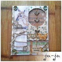 Очень красивая открытка с металлическими птичками. Больше открыток здесь: https://vk.com/otkryitki_juju https://www.facebook.com/jujumagiccards Ju-Ju - открытки, которые приносят счастье!