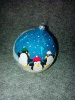 """Новорічна кулька """"Пінгвіни Антарктики"""""""