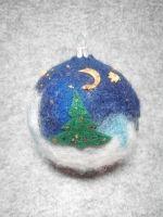 """Новорічна кулька """"Різдвяна ніч"""""""