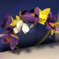 Обруч с цветами из фоамирана. Все цветы ручной работы.  Возможно изготовление с другими цветами, по вашему пожеланию.