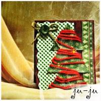 Красивая и уютная открытка к Новому году или Рождеству