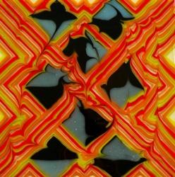 Панно из стекла ручной работы, изготовленная по технологии фьюзинг. Размер 31х31см. В единственном экземпляре.