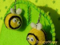 Пчелки. Валяные серьги