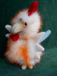 Петушок,игрушка - перчатка для домашнего кукольного театра. Работа авторская,повтор возможен. Изготовлен из искусственного меха,легко стирается в тёплой воде. Размер подходит для женской и детской (6-10 лет) руки.