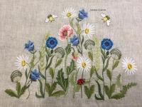 Платье с вышивкой , заготовка для пошива