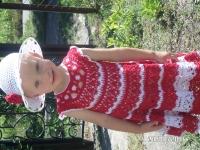 Виготовлю на замовлення для вашої донечки або на подарунок  чудове платтячко. На вік 2-2,5 роки. Термін виготовлення -10-14 днів.