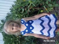 Виготовлю для вашої донечки на замовлення платтячко або на подарунок для маленької красуні. Термін виготовлення - 10-14 днів. На вік 4 роки.