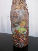 Подарочная винтажная Новогодняя бутылка, декупаж