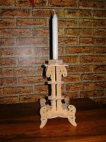 Подсвечник «1 свеча» Винтаж Материал: фанера береза 4мм.