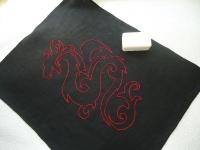 """Полотенце подарочное """"Красный дракон"""""""