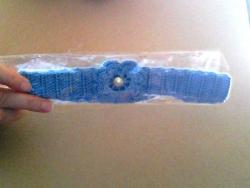повязка связанная крючком на девочку от года до трех лет