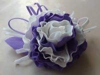 Фантазійна квітка як прикраса для волосся або одягу зроблена із фоамірану. Не боїться вологи. Ручна робота.