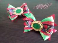 """резиночка """"Бантик"""" виконана у стилі канзаши, чудово підійде для Вашої донечки, особливо до українського вбрання"""