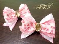 """резиночка """"Рожевий бантик"""", чудова прикраса для вашої принцеси"""