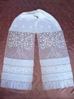 Рушник білий 100% льон та полотно вязане гачком. Взірець,термін виконання замовлення 21 день.