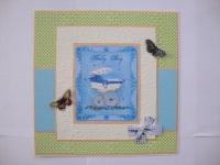 Размер 18х18 см, изготовлена из дизайнерской бумаги+ дизайнерского картона+тисненой бумаги, украшена 3d бабочками