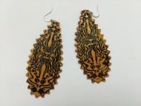 Сережки ручной работы из полимерной глины в восточном стиле.