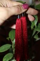 Вдалий вечі може підкреслити маленька деталь у вашому образі - це сережки. Насичений червоний колір підкреслить вашу бездоганість. Довжина - 12,5см.
