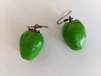"""Сережки ручної роботи """"Зелене яблуко"""""""