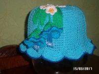Прекрасная яркая шапочка из 100 % хлопка очень понравится вашему ребёнку ! Свяжу на заказ за 3-5 дней.